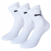 Puma Short Crew Socks White UK Size 2H-5 Pack of 3