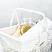 Willow Storage Basket with Cotton Lining | M&W White - Image 4