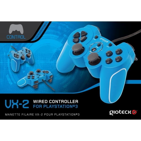Gioteck VX-2 Wired Controller Blue for PS3 - shop4world.com