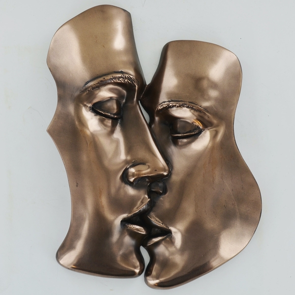 Kiss Cold Cast Bronze Plaque