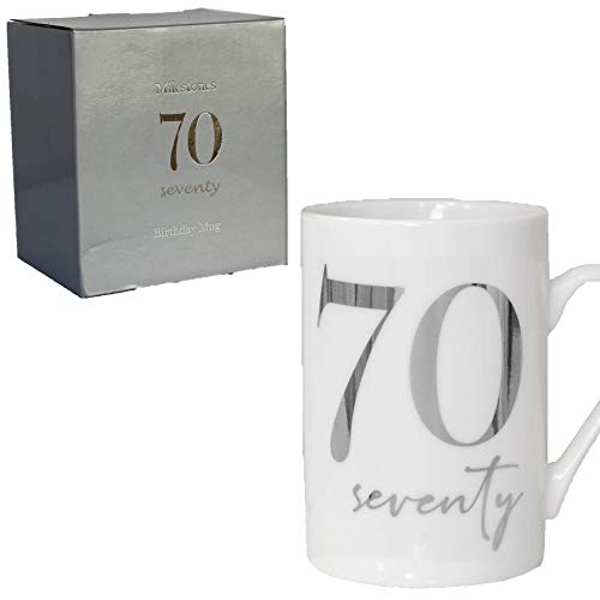 Milestones New Bone China 11oz Mug with Silver Foil - 70
