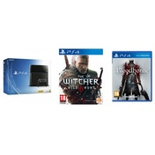 PlayStation 4 (500GB) Black Console + The Witcher 3 Wild Hunt Day One Edition + Bloodborne