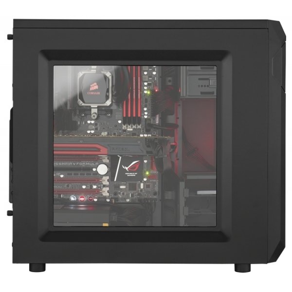 Corsair CC-9011050-WW Carbide Series SPEC-01 Mid-Tower ATX Gaming Case with Red LED Fan Black - Image 2
