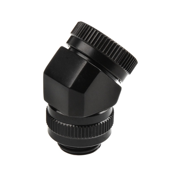 Image of Phanteks 16mm Hard Tube Rotary Fitting 45 G1/4 - Black
