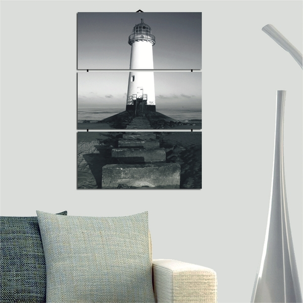 Lighthouse Decorative MDF Painting (3 Pieces)