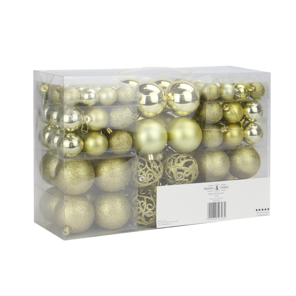 100pc Baubles Pack | M&W Gold