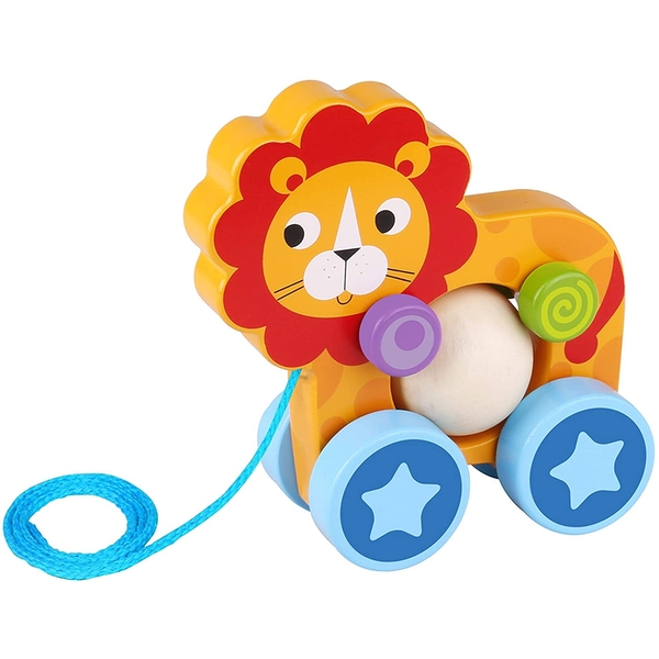 Lion Wooden Pull Along Toy
