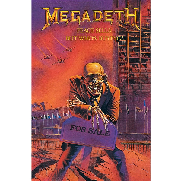 Megadeth - Peace Sells Textile Poster