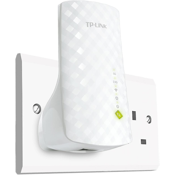 TP-Link RE200 AC750 Universal WiFi Range Extender Easy WiFi Booster UK Plug