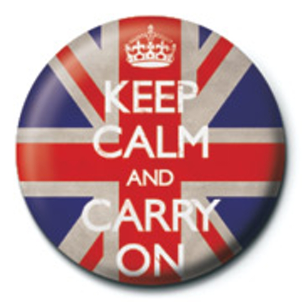 Keep Calm and Carry On - Union Jack Badge