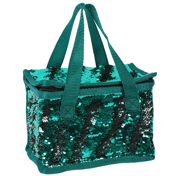 Green and Silver Reversible Sequin Cooler Bag