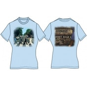Abbey Road Ladies Light Blue Vintage Print TShirt: Medium