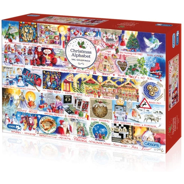 Gibsons Christmas Alphabet Jigsaw Puzzle - 1000 Pieces