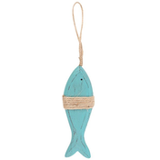 Blue Wooden Fish Hanging Decoration