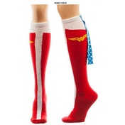 Wonder Woman Logo Cape One Size Socks - Red
