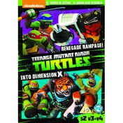 Teenage Mutant Ninja Turtles Season 2 Vol. 3 Renegade Rampage / Vol. 4 Into Dimension X - DVD 2 Pack