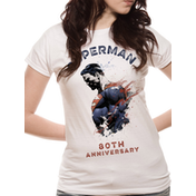 Superman - 80th Anniversary Women's X-Large T-Shirt - White