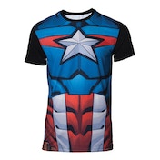 Captain America - Sublimation Men's Large T-Shirt - Multi-colour