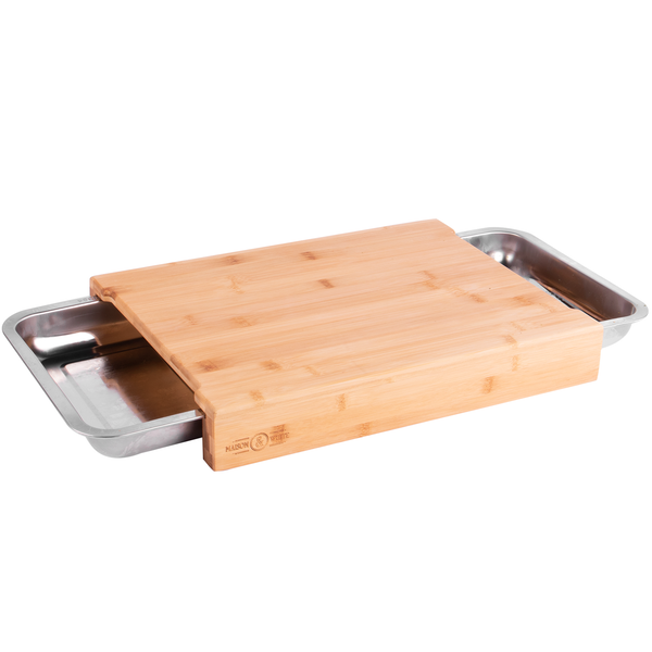 Bamboo Chopping Board with Trays | M&W