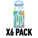 Citrus Sparkle & Summer Splash (Pack Of 6) Refresh Vent Stick