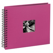 Hama Fine Art Spiral Bound Album 28 x 24 cm 50 black pages Pink