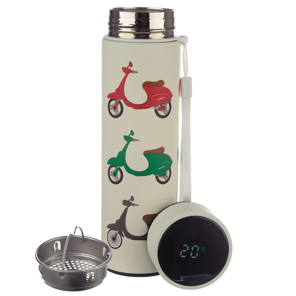 Scooter Reusable Stainless Steel Hot & Cold Thermal Insulated Drinks Bottle with Digital Thermometer