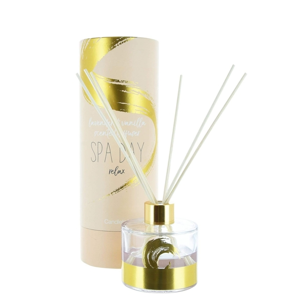Candlelight Spa Day Relax Reed Diffuser Lavender & Vanilla Scent 150ml