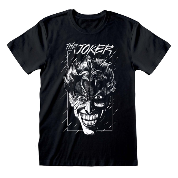 Batman - Joker Sketch Unisex Large T-Shirt - Black