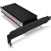 IcyBox M.2 NVMe SSD ARGB PCI-e Adapter Card