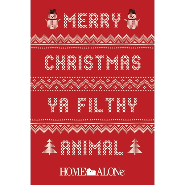Merry Christmas Ya Filthy Animals.Home Alone Merry Christmas Ya Filthy Animal Jumper Maxi Poster