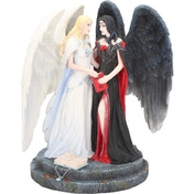 Dark and Light Angels Figurine