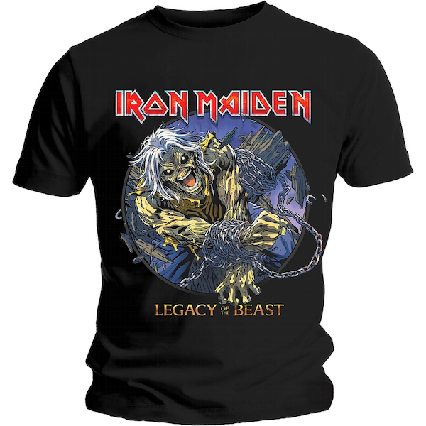 Iron Maiden - Eddie Chained Legacy Unisex Medium T-Shirt - Black