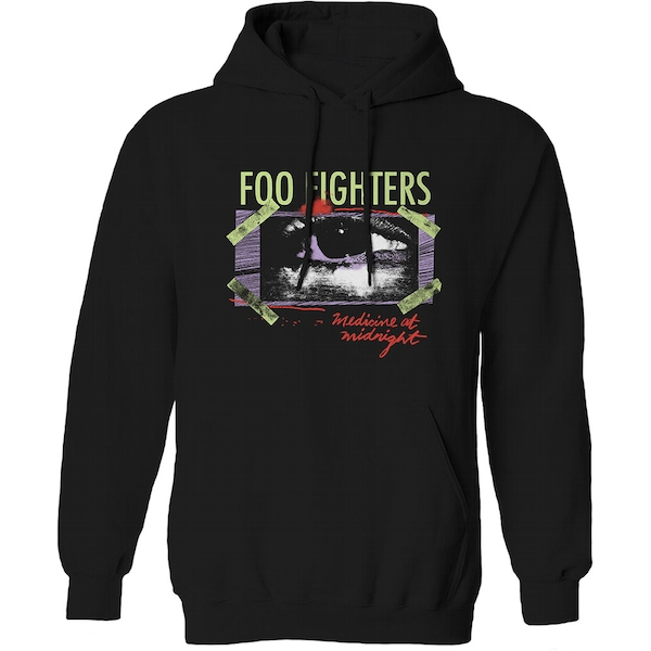 Foo Fighters - Medicine At Midnight Taped Unisex Small Hoodie - Black