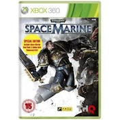 Warhammer 40000 Space Marine Game + Golden Chainsword Weapon Code Xbox 360
