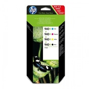 HP 940XL Cyan, Magenta, Yellow & Black Ink Cartridge Combo Pack