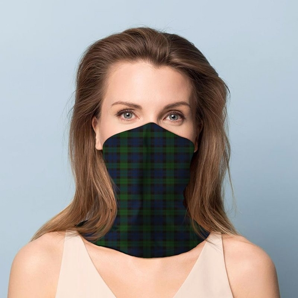 Green Tartan Neck Scarf Face Covering