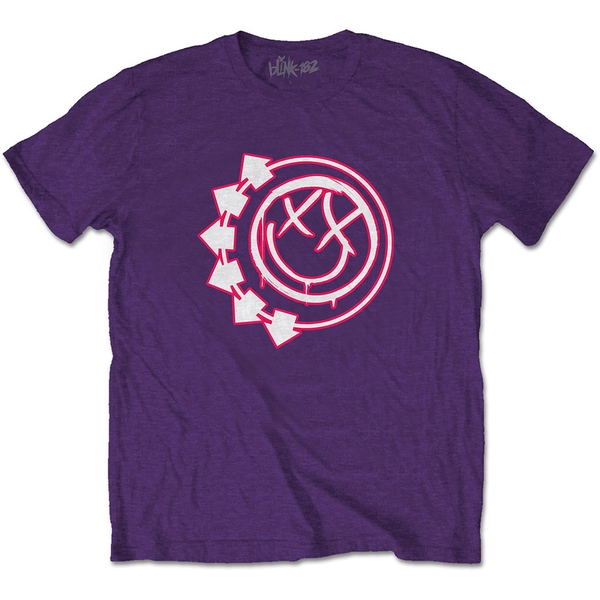 Blink-182 - Six Arrow Smiley Unisex X-Large T-Shirt - Purple