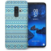 CASEFLEX SAMSUNG GALAXY S9 PLUS FAIR ISLE AZTEC - BLUE CASE / COVER (3D)