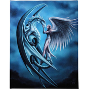 Small Silver Back Canvas Picture by Anne Stokes
