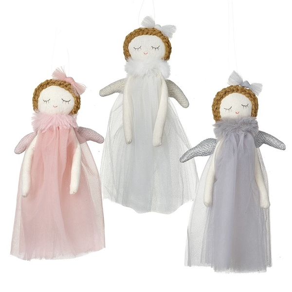 Hanging Angels with Bows Decoration (Set of 3) By Heaven Sends