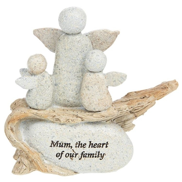 Pebble Art Angel Mothers Love Ornament