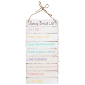 Spring Bucket List Hanging Sign