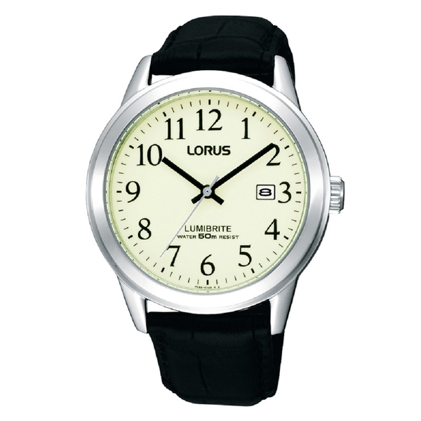 Lorus RH929BX9 Mens Lumibrite Stainless Steel Strap Watch