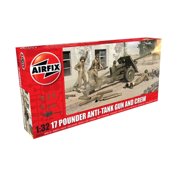 17 Pdr Anti-Tank Gun 1:32 Air Fix Model Kit