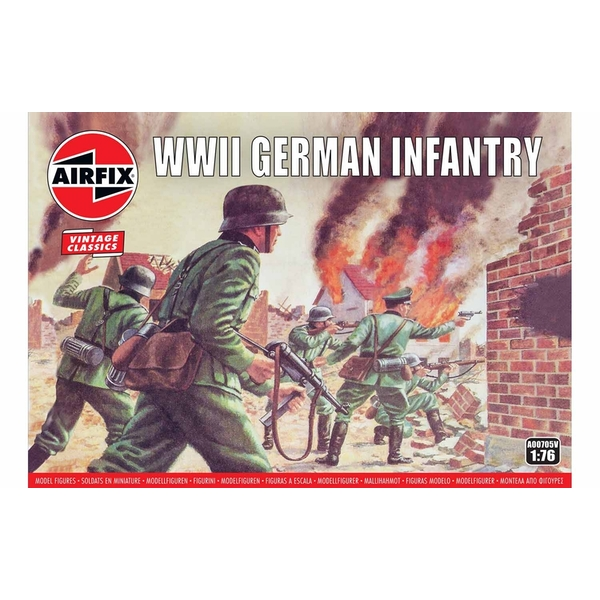 WWII German Infantry 1:76 Air Fix Figures