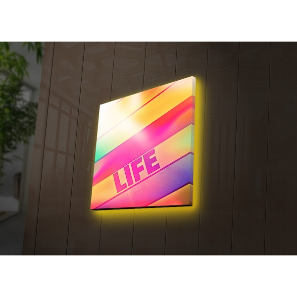 2828DACT-39 Multicolor Decorative Led Lighted Canvas Painting