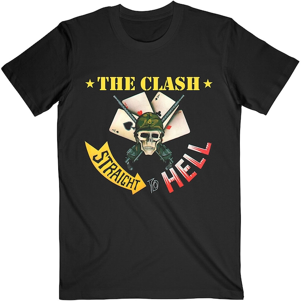 The Clash - Straight To Hell Single Unisex XX-Large T-Shirt - Black