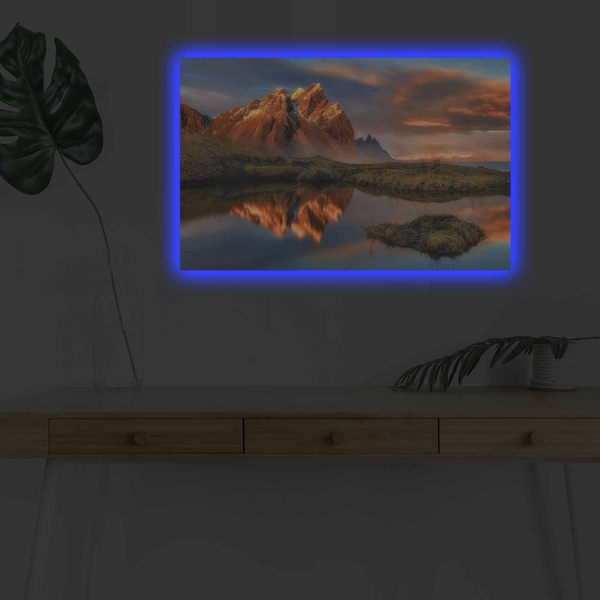 4570DHDACT-004 Multicolor Decorative Led Lighted Canvas Painting