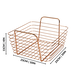 Rose Gold Metal Storage Basket | M&W Set of 2 - Image 7