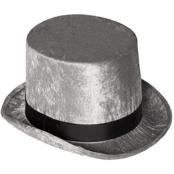 Adults Top Hat One Size (Silver)